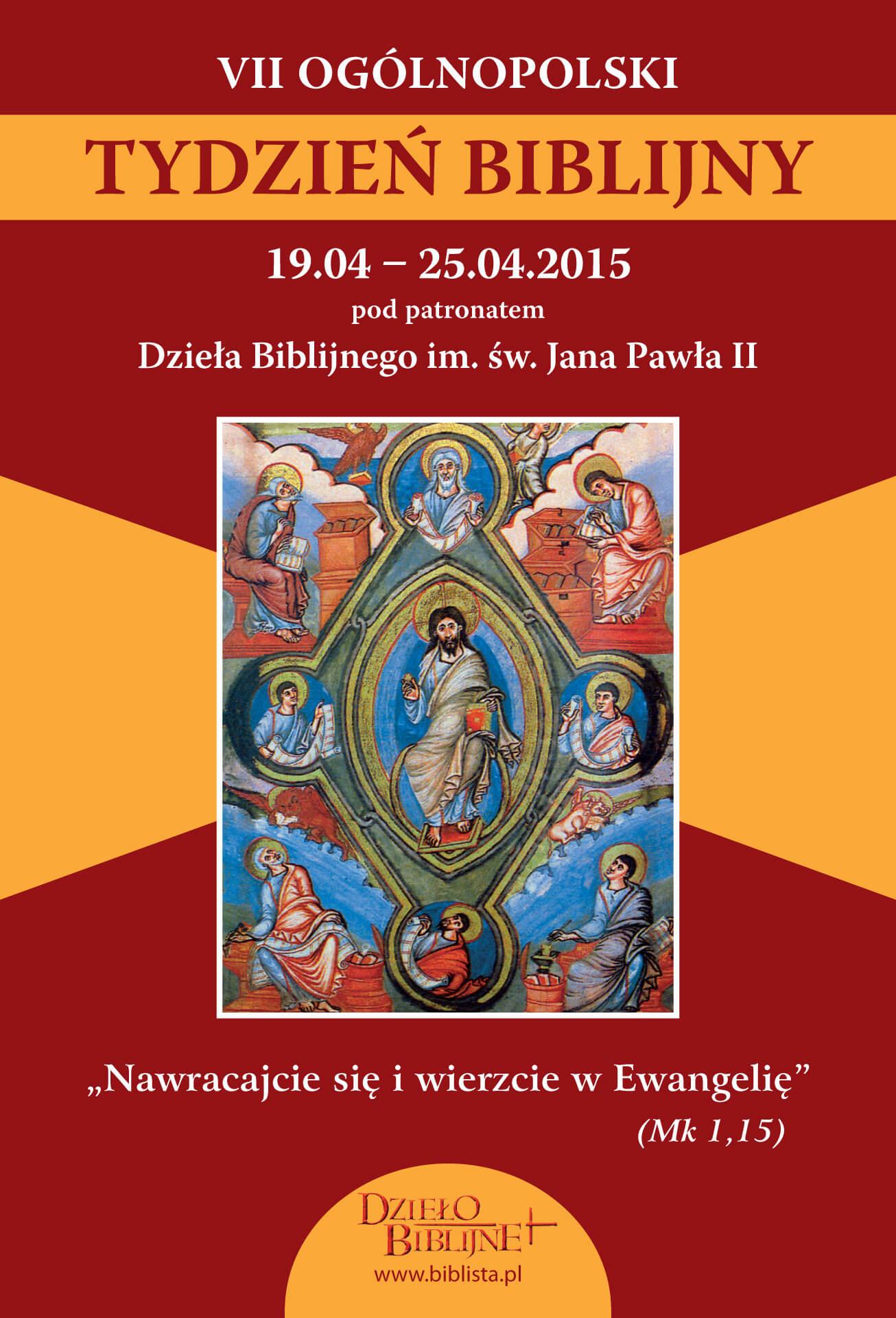 VII Ogólnopolski Tydzień Biblijny - plakat