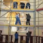 Budowa ołtarza Św. Jana Pawła II